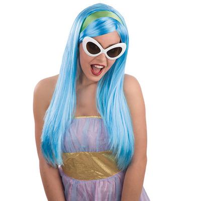Perruque Giulia bleue