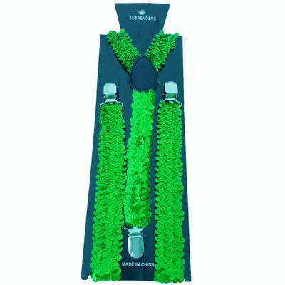Bretelles paillettes vert brésil
