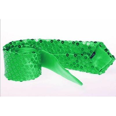 Cravate à Paillettes Verte