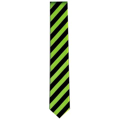 Cravate fluo rayée verte et noire