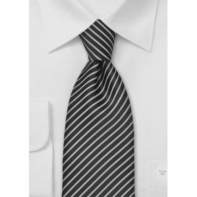 Cravate luxe rayée noire et blanche