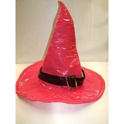 Chapeau de Sorcière En Vinyle Fuchsia