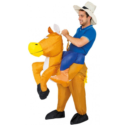 Déguisement gonflable Carry me Cowboy à cheval