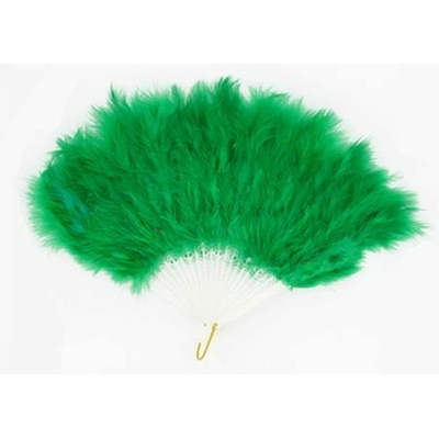 Eventail Plumes Vert
