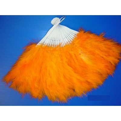 Eventail En Plumes Orange