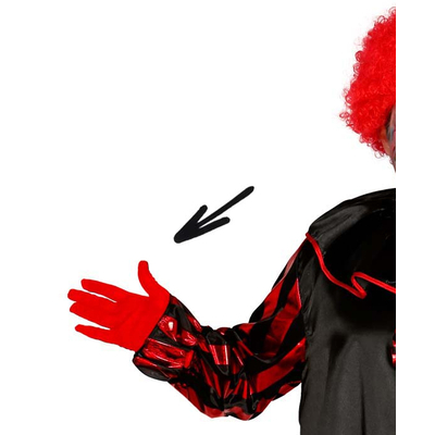 Gants courts rouges unisexe