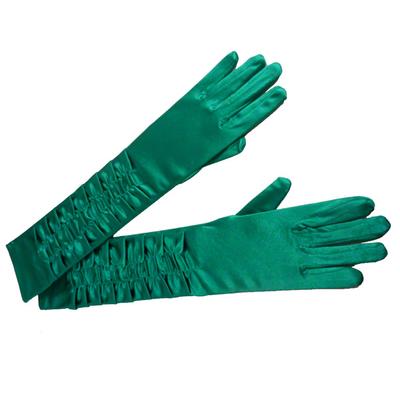 Gants plissés verts