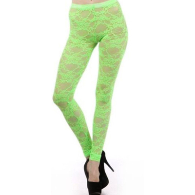 Legging dentelle vert fluo