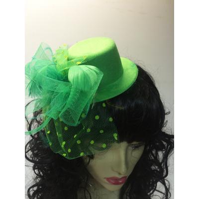 Mini chapeau avec voilette vert brésil