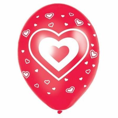 Ballons Latex Imprimés Coeurs