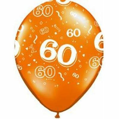Ballons En Latex Chiffres 60