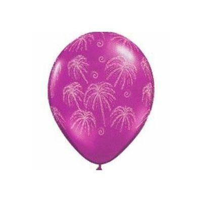 Ballons Latex Imprimés Feux d'Artifices
