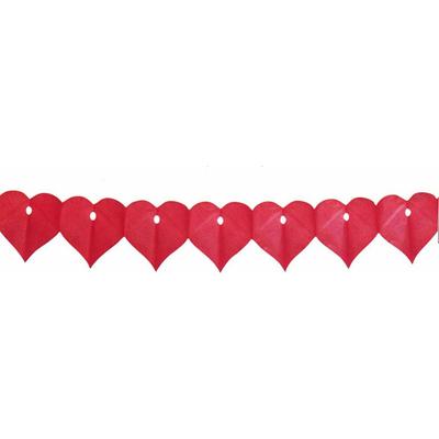 Guirlande Mariage Coeur Rouge