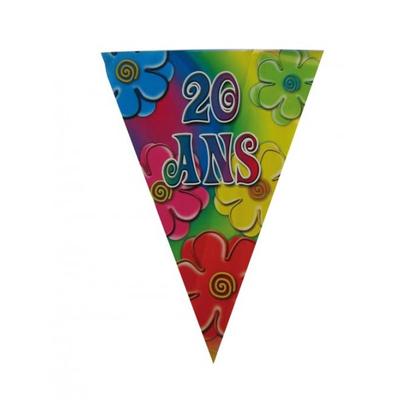 Guirlande fanions thème 20 ans