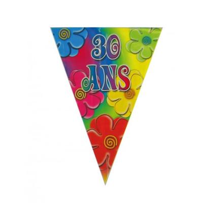 Guirlande fanions thème 30 ans