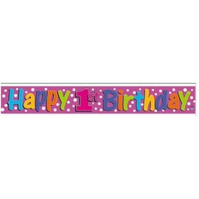 Bannière Métallisée Happy Birthday de 1 à 6 Ans