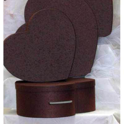 Urne coeur Chocolat 41 cm