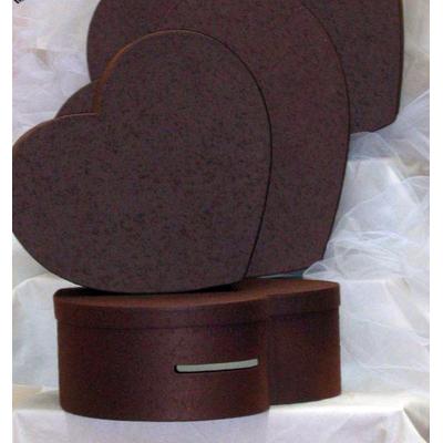 Urne coeur Chocolat 45 cm