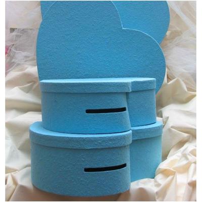 Urne coeur Turquoise 38 cm