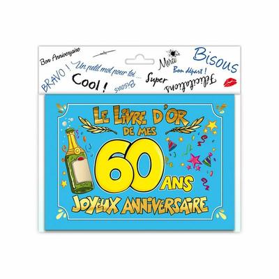 Livre d'or anniversaire 60 ans