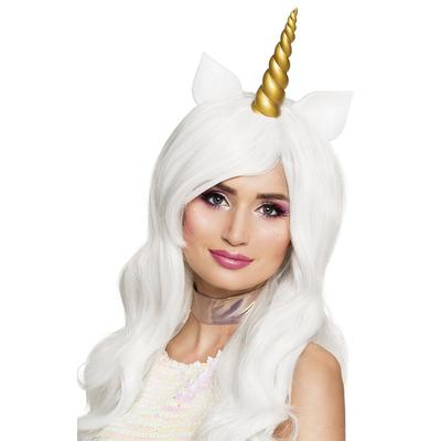 Perruque licorne blanche
