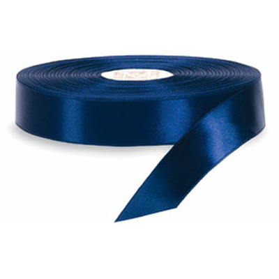 Ruban de satin bleu marine 6mm X 10m