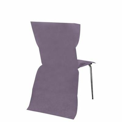 6 Housses de chaise parme