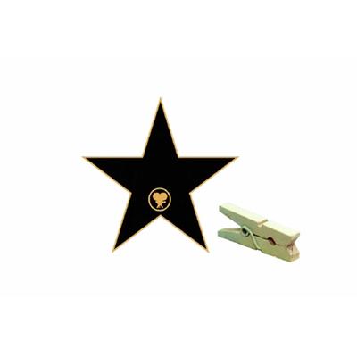 6 pinces marques places étoile star
