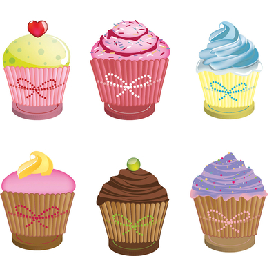 6 marque- places cup cake