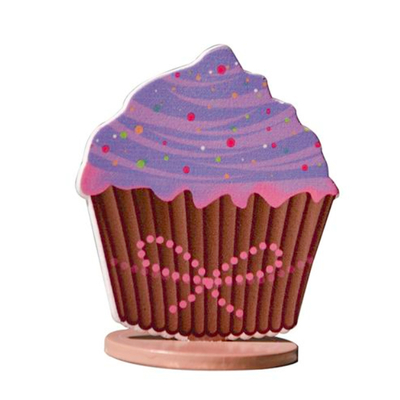 3 marques places cup cakes lilas