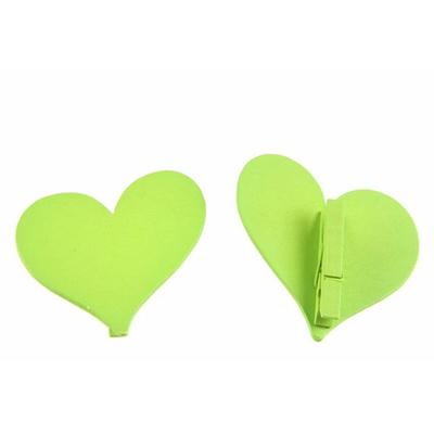 12 marques place coeurs bois vert anis