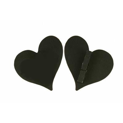 12 marques place coeurs bois noir