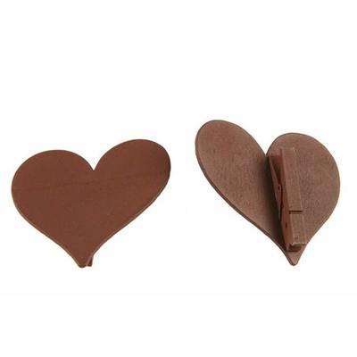12 marques place coeurs bois chocolat