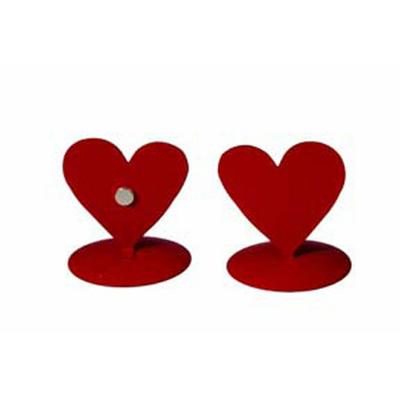 12 marques place coeurs métal rouge