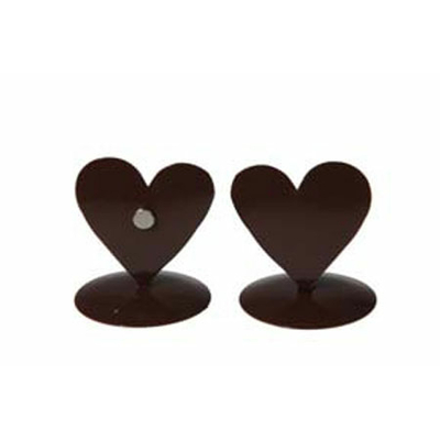 12 marques place coeurs métal chocolat