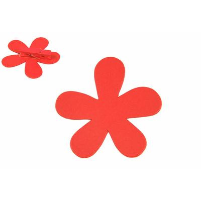 12 marques place fleurs oranges en bois
