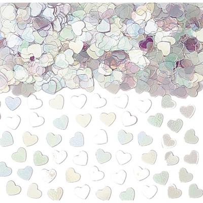 Confettis de Tables Coeurs Irisés