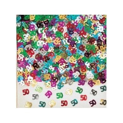Confettis de Tables Métallisés 50 Ans