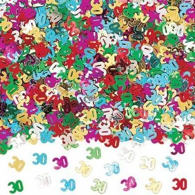 Confettis de Tables Chiffre 30