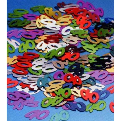 Confettis de Tables Métallisés 40 Ans
