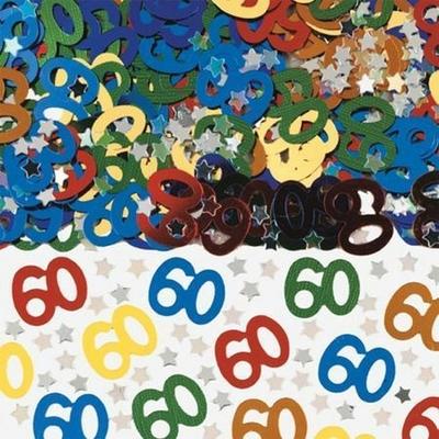 Confettis de Tables Chiffre 60