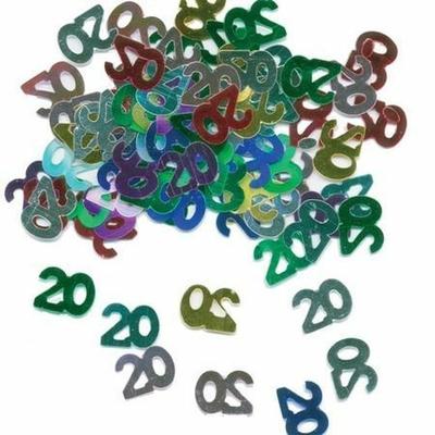Confettis de Tables Chiffre 20