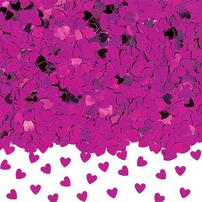 Confettis  de Tables Coeurs Fuchsia