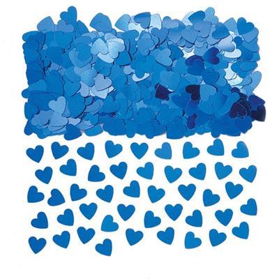 Confettis  de Tables Coeurs Bleus