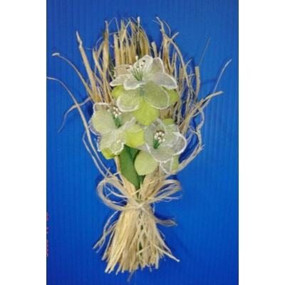 Bouquet Fagot Et Fleurs Vertes