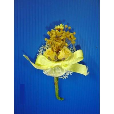 Bouquet Fleurs Jaunes Ou Boutonnière