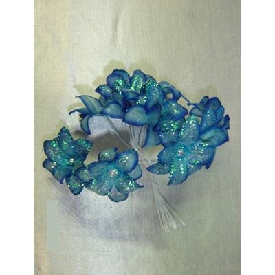 Bouquet de Fleurs Pailletées Bleues