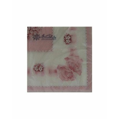 Serviettes Bouquet Céleste Rose