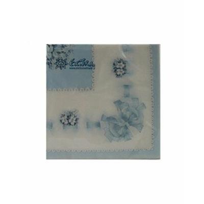 Serviettes Bouquet Céleste Bleu