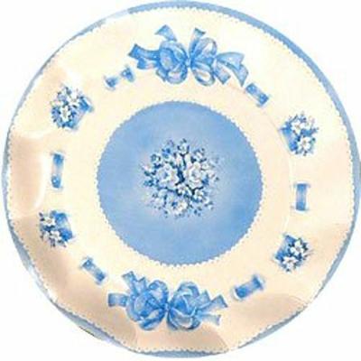 Assiettes Bouquet Céleste Bleu 27 Cm
